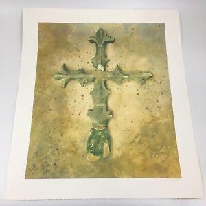 Lillias August Signed Colour Print Archive II Cross 68cm X 59.5cm