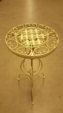 Beistelltisch Blumentisch Metall Eisen antik weiss Haus & Garten Lilie