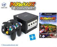 Nintendo GameCube - Konsole #schwarz + Mario Kart + 2 Controller + Zub.
