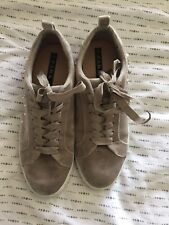 Zara Size 6(39) Grey/stone Colour Velour And Sequinned Runners