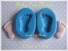 CAKE DECORATING:  DETAILED BABY FEET SILICONE MOULD CUPCAKE/CAKE TOPPERS