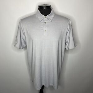 NEW Adidas Climalite Grey Stripe Golf Shirt Men's Large Big & Tall