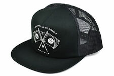 OBEY FLAGS TRUCKER CAP SNAPBACK ADJUSTABLE BLACK AUTHENTIC IMPORTED FROM USA e05831cced41