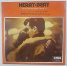 """BUDDY HOLLY TRIBUTE.""""HEART BEAT"""".ROCK AND ROLL. 33RPM LP.B5"""
