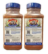 2- PAPPY'S  Choice Seasoning BLUE CAP Spice BBQ Rub 28 OZ Professional 50% Less