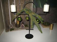 Kerzenständer Teelichthalter Metall schwarz 2 armig Tischdekoration Kerzenhalter