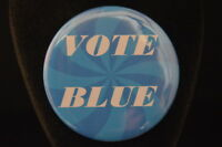 """LOT of  3  VOTE BLUE  BUTTONS  pin  pinback  2 1/4""""  DEMOCRAT   political action"""