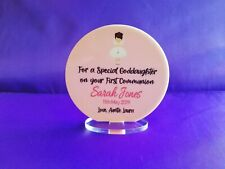 Personalised Boy or Girl Communion Standing Plaque Gift Keepsake
