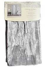 Cynthia Rowley Silver Grey Vintage Velvet PAIR Window Curtain Panels 96'' Gray