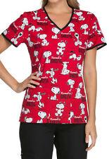 Cherokee Tooniforms Scrubs Snoopy Normal Is Boring Top Sz XXL NWT
