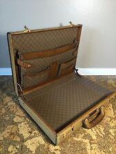 Vintage West German Brown Leather Caracciola Briefcase~Gold Pfeil Created~Presto