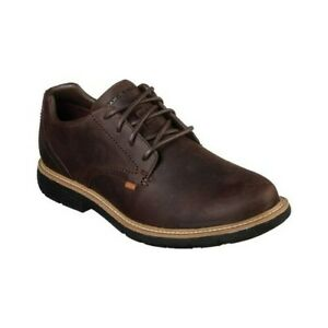 SKECHERS MENS MARK NASON BROWN LIE LUGG LEATHER LACE UP SHOES 68980 rrp £90