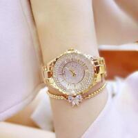 Elegant Women Rhinestone Stainless Steel Dial Analog Quartz Wrist Watch SY !