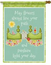 Lang Mini Garden Flag Flower Path, Exclusive Artwork by Suzanne Nicoll 12x18