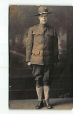US ARMY Military Portrait Man~RPPC Photo Postcard Olympia WA Washington -Studio
