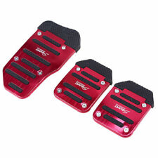 3x Red Universal Aluminium Alloy Car Racing Sports Manual Non-Slip Foot Pedal