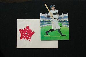 1980 Babe Ruth NY Yankees 3-D Die-Cut Greeting Card w/ Original Envelope