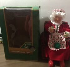 North Pole Productions Animated Knitting Mrs. Claus By Gemmy Industries Corp.
