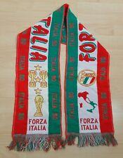 Vintage ITALY 1990 FIFA World Cup Football Scarf FORZA ITALIA 90 Retro Soccer