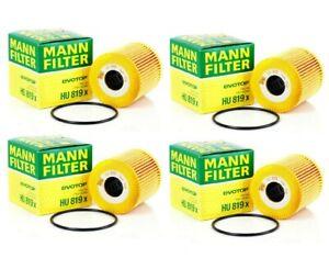Set of 4 Oil Filters For Volvo S40 S60 C70 XC70 XC90 V70 V40 Mann New