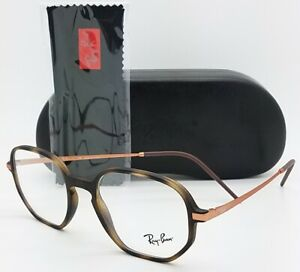NEW Rayban Rx Frame RX7152 5365 52mm 7152 Copper Tort Copper Hexagonal AUTHENTIC