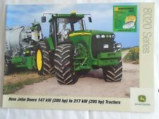 John Deere  200 to 295HP 8020 Series Tractors brochure Feb 2003 English text