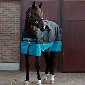 %% HORSEWARE Amigo Mio Lite 600Denier Outdoordecke black-türkis %%