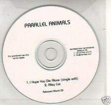 (F806) Parallel Animals, I Hope You Die Alone - DJ CD