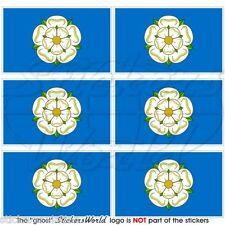 Yorkshire Bandiera Inghilterra UK British 40 mm Mobile Cellulare Mini Adesivi Decalcomanie x6