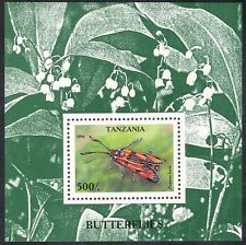 Tanzania 1996 Moths/Butterflies/Insect/Flowers/Nature 1v m/s(s4343)