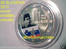 2 euro 2011 SLOVENIA fdc smaltato colorato Slovenie Slovenija Franc ROZMAN
