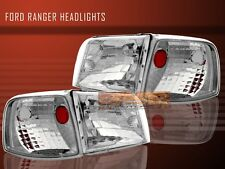93 94 95 96 97 FORD RANGER HEADLIGHTS LAMPS + CORNER CRYSTAL CLEAR