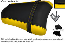YELLOW & BLACK CUSTOM FITS DUCATI 749 999 REAR PILLION PASSENGER SEAT COVER
