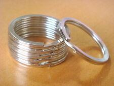 """Lot of 100 Key Rings Silver Metal Split Rings 28mm 1 1/16"""" H53-100"""