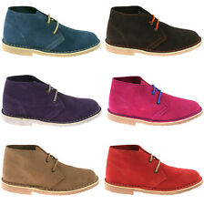 LADIES ROAMERS SUEDE LEATHER DESERT BOOTS SIZE UK 3 - 8 CLASSIC ANKLE L777 KD