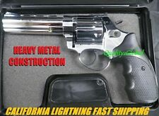 "NEW CHROME METAL 4.5"" MOVIE PROP Pistol Replica Gun Training MAGNUM 44 357 S&W"
