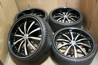 """Like-New 22"""" Lexani LSS-10 Wheels w/Tires fits 2004-2019 Chrysler 300C Charger"""