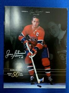 NHL MONTREAL CANADIENS JEAN BELIVEAU AUTOGRAPHED 50 YEAR TRIBUTE LINE-UP 2003