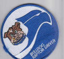 PATCH USAF F-22 525tH FS BULLDOG RAPTOR DRIVER VEL BACK PARCHE