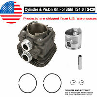 Cylinder Piston and Gasket Kit 50mm Fits For Stihl TS410 TS420 Cut-Off Saw Tool