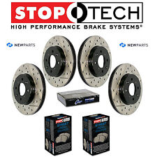 For Honda 2.0L Front & Rear Drilled Slotted Brake Rotors Street Pads Kit NEW
