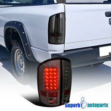 For 2002-2006 Dodge Ram 1500 2500 3500 LED Tail Lights Brake Lamp Smoke