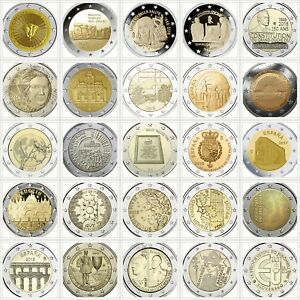 € 2 Euro Commemorative Coins 2005-2019 €