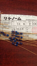 1pc Riken RMG 10K 1/2W 0.5W  Gold plated Carbon Film Resistor  #G2499 XH