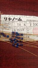 1pc Riken RMG 10K 1/2W 0.5W  Gold plated Carbon Film Resistor  #G2499 XH