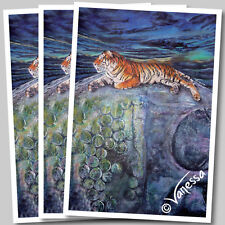 Limited Edition A3 Signed Print - Wildlife Art Painting of Thai Tiger on Buddha