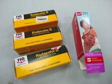 4 cartridges Kodacolor 2 / GAF 110 color film – 46 exp total – expired