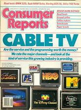 1987 Consumer Reports Magazine: Cable TV/Disney Channel/HBO/Bravo/Coffee Makers