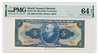 BRAZIL banknote 5 Cruzeiros 1943 PMG MS 64 Choice Uncirculated