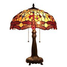 Chloe Lighting Tiffany Style Dragonfly 2 Light Table Lamp CH33471AD18-TL2